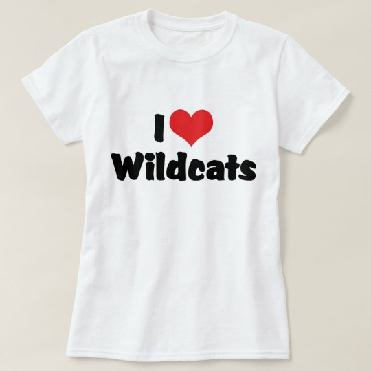 I Love Heart Wildcats T-Shirt