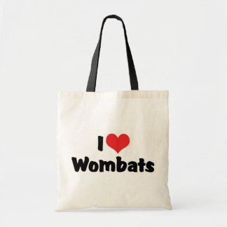 I Love Heart Wombats Budget Tote Bag