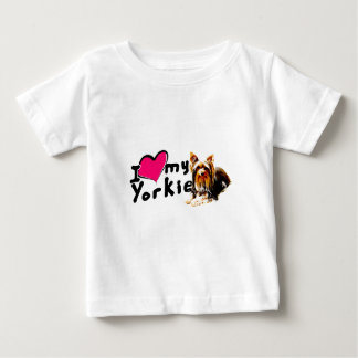 I love (heart) Yorkies Baby T-Shirt