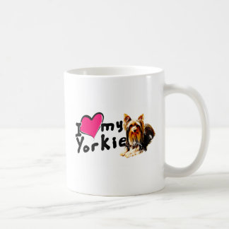 I love (heart) Yorkies Coffee Mug