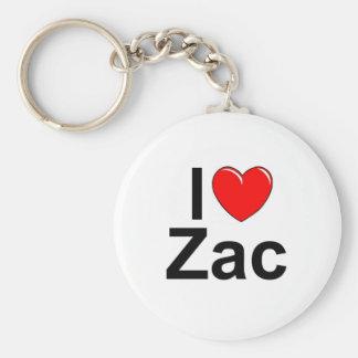 I Love (Heart) Zac Basic Round Button Key Ring
