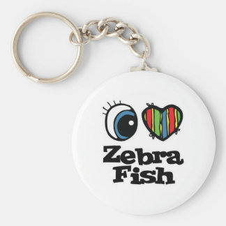 I Love (Heart) Zebrafish Key Ring