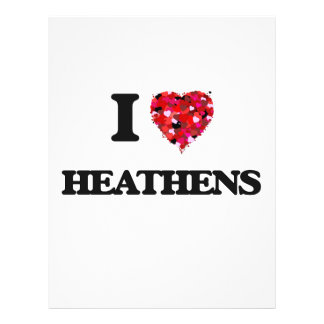 I Love Heathens 21.5 Cm X 28 Cm Flyer