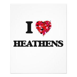 I Love Heathens 11.5 Cm X 14 Cm Flyer