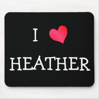 I Love Heather Mouse Mat
