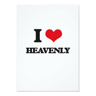 """I love Heavenly 5"""" X 7"""" Invitation Card"""