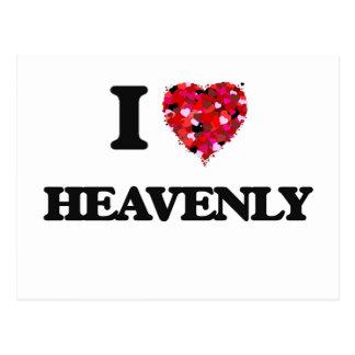 I Love Heavenly Postcard