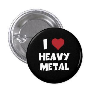 I Love Heavy Metal 3 Cm Round Badge