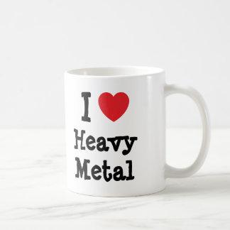 I love Heavy Metal heart custom personalized Classic White Coffee Mug
