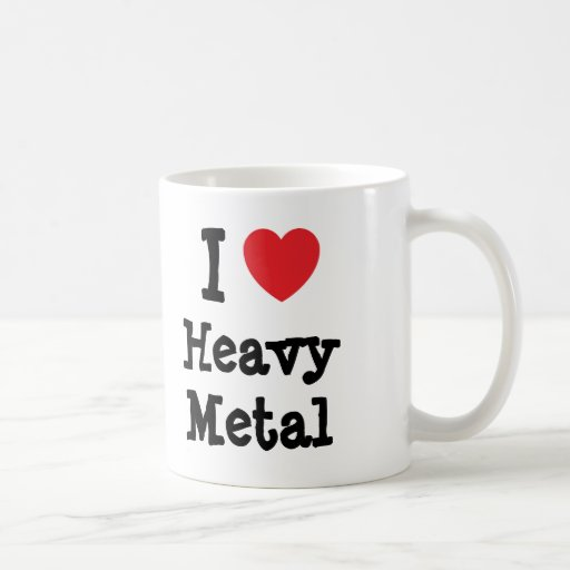 I love Heavy Metal heart custom personalized Coffee Mugs
