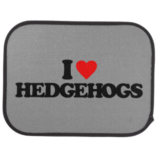 I LOVE HEDGEHOGS CAR MAT