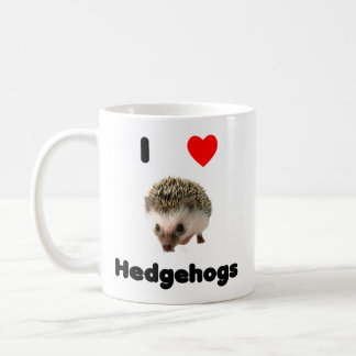 I love hedgehogs Mug