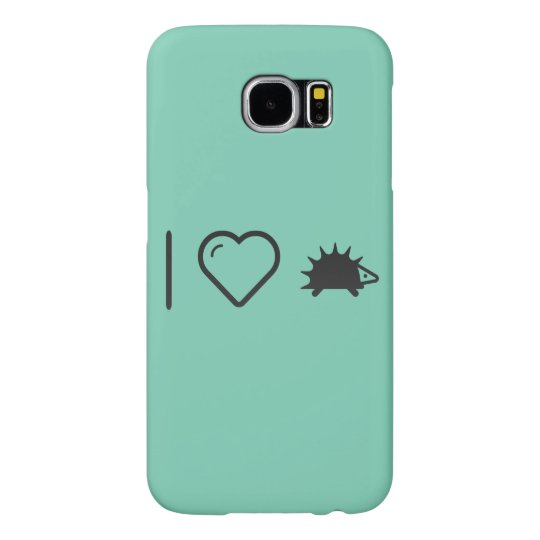 I Love Hedgehogs Samsung Galaxy S6 Cases
