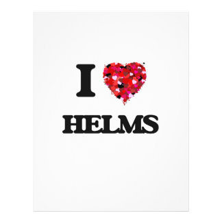 I Love Helms 21.5 Cm X 28 Cm Flyer