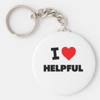I Love Helpful Key Ring