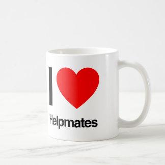 i love helpmates basic white mug