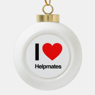 i love helpmates ornaments