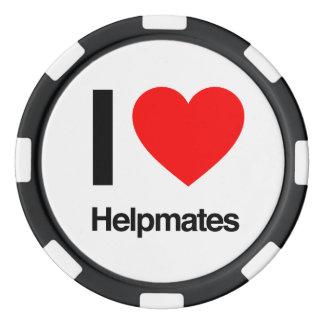 i love helpmates set of poker chips