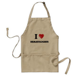 I love Hematologists (Heart made from words) Standard Apron