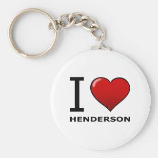 I LOVE HENDERSON,NV - NEVADA BASIC ROUND BUTTON KEY RING