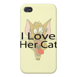 I Love Her Cat black iPhone 4/4S Covers
