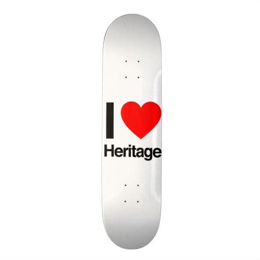 i love heritage skateboard