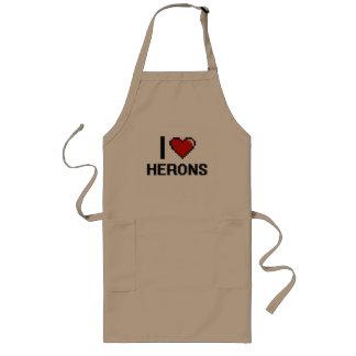 I love Herons Digital Design Long Apron