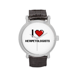 I love Herpetologists Wrist Watches
