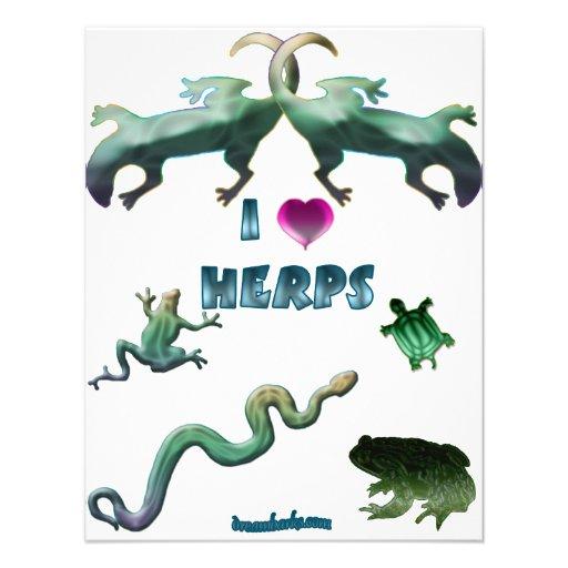 I Love Herps Invitations