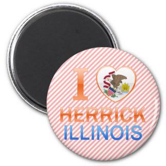 I Love Herrick IL Refrigerator Magnet