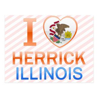 I Love Herrick IL Postcards
