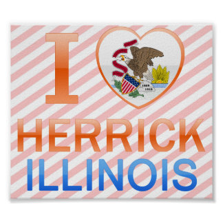 I Love Herrick IL Posters