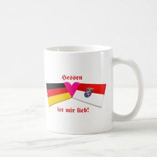 I Love Hessen ist mir lieb Basic White Mug