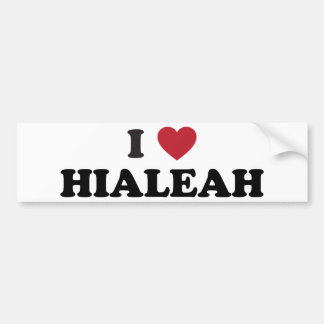 I Love Hialeah Florida Bumper Sticker
