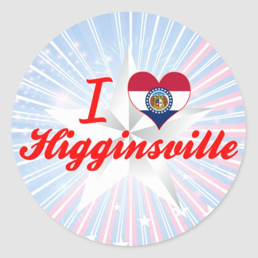 I Love Higginsville, Missouri Round Stickers