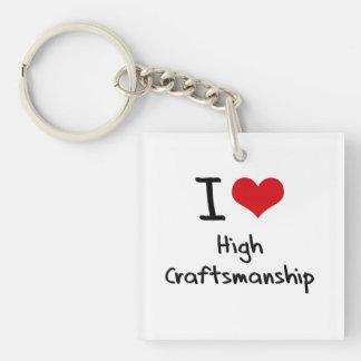 I love High Craftsmanship Single-Sided Square Acrylic Keychain