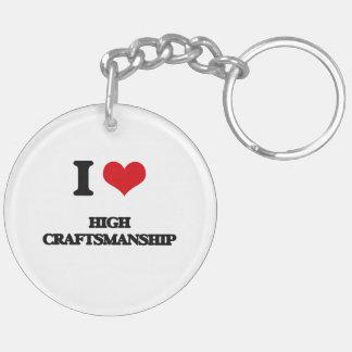 I love High Craftsmanship Double-Sided Round Acrylic Keychain
