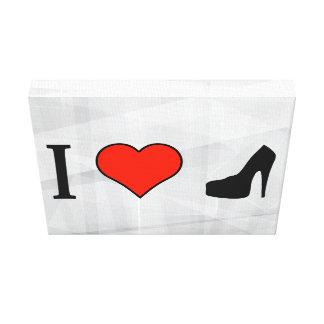 I Love High-Heeled Shoes Canvas Print