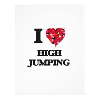 I love High Jumping 21.5 Cm X 28 Cm Flyer