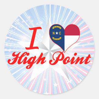 I Love High Point, North Carolina Round Sticker