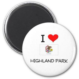 I Love HIGHLAND PARK Illinois 6 Cm Round Magnet