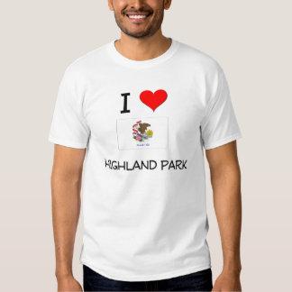 I Love HIGHLAND PARK Illinois Tee Shirts