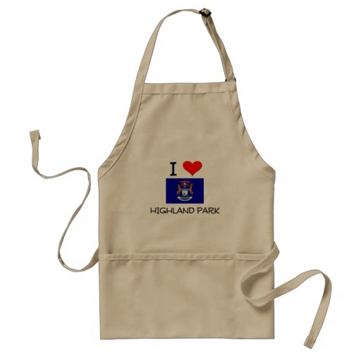 I Love Highland Park Michigan Apron