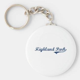 I Love Highland Park Michigan Basic Round Button Key Ring