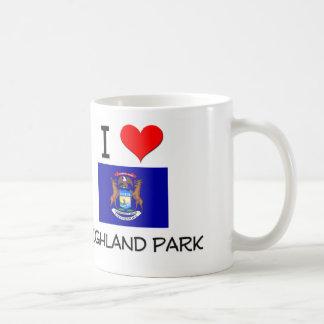 I Love Highland Park Michigan Basic White Mug