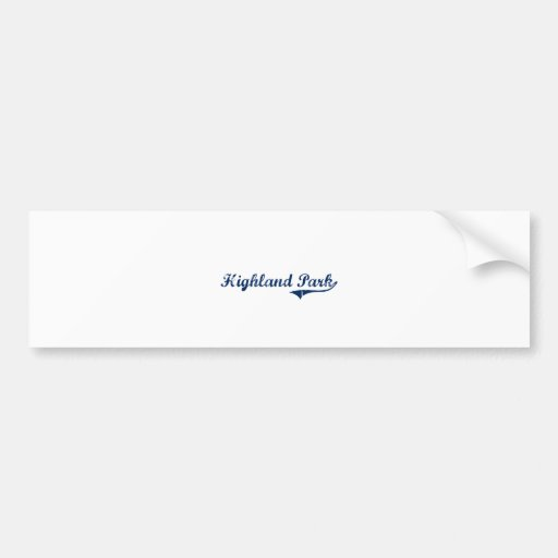 I Love Highland Park Michigan Bumper Stickers