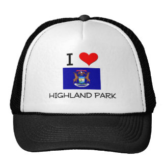 I Love Highland Park Michigan Trucker Hat