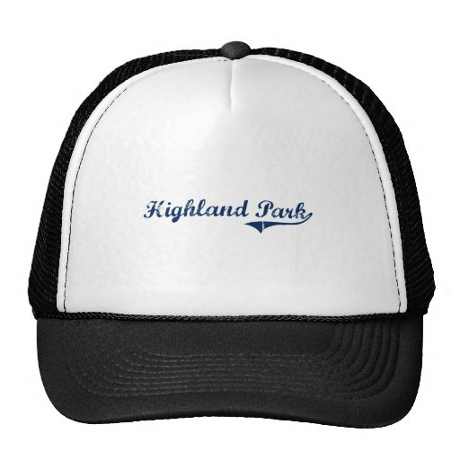 I Love Highland Park Michigan Trucker Hats