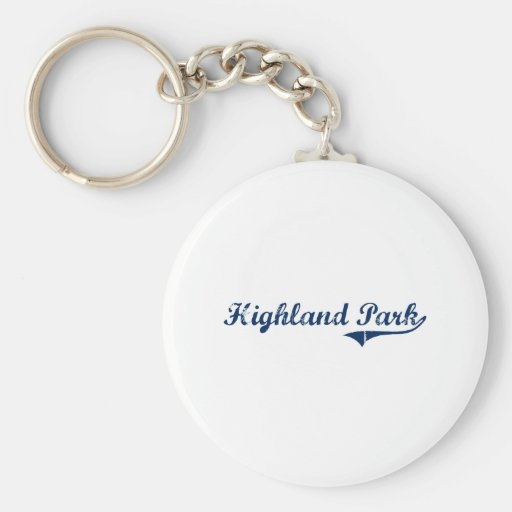 I Love Highland Park Michigan Key Chains