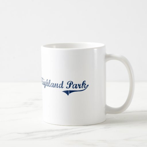 I Love Highland Park Michigan Coffee Mugs